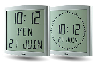 LCD Digital Clocks - Cristalys Range