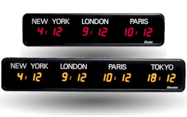 LED Digital Clocks - Time Zone